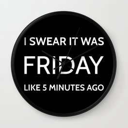 The Friday Quote Wall Clock