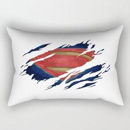 Superman BvS Ripped Symbol Rectangular Pillow