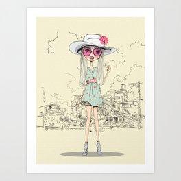 The Blogger Girl Art Print