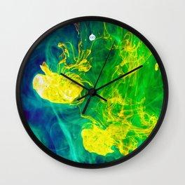 Multi - Coloured Inks Wall Clock