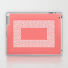 Greek Key coral Laptop & iPad Skin