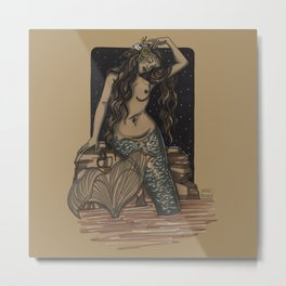 Mermaid Folies 8 Metal Print
