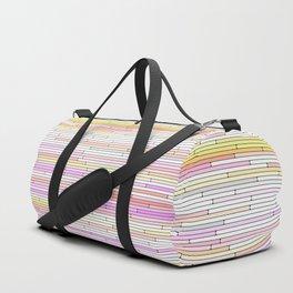 Yellow Pink Random Lines Duffle Bag