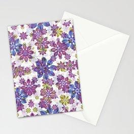 Stylized Floral Ornate Pattern Stationery Cards