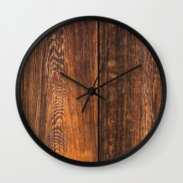 Old wood texture Wall Clock
