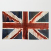 union jack Area & Throw Rugs featuring Union Jack by breezy baldwin