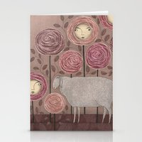 sleeping beauty Stationery Cards featuring Sleeping beauty by Judith Clay
