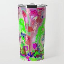 Abstraction of light Travel Mug