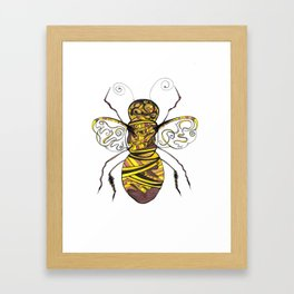 Barnaby the humble bumble bee Framed Art Print