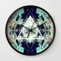 deathly hallows Wall Clocks featuring Deathly Hallows by Christine DeLong Creative Studio