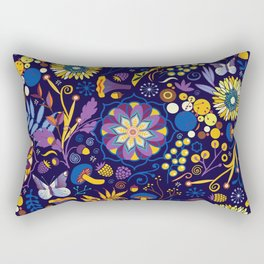 Ripe autumn – purple and yellow Rectangular Pillow