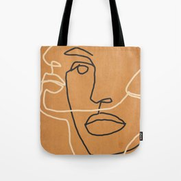 Abstract Face 6 Tote Bag