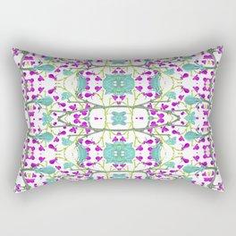 Colorful Modern Floral Pattern Rectangular Pillow