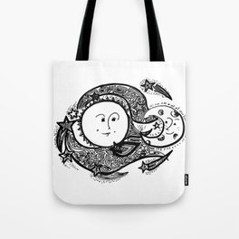 The Sun and Her Sunshine Tote Bag