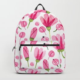 Pink flowers Nature Backpack