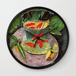 The Goldfish by Henri Matisse Wall Clock