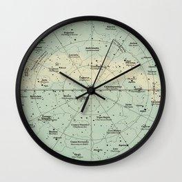 Vintage Star Constellations Map (1895) Wall Clock