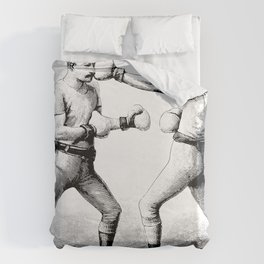 Men with Mustaches Duvet Cover