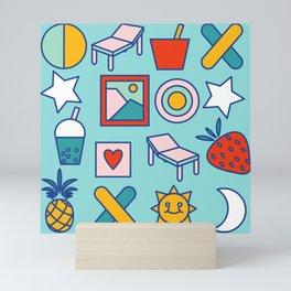 Summer vacation Mini Art Print