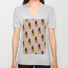 Pineapple and Pink II Unisex V-Neck
