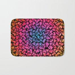 Vibrant Mosaic Tiled Circular Pattern Bath Mat