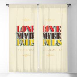 Love Never Fails! Blackout Curtain