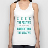 positive Tank Tops featuring #positive by Cool_Design