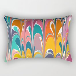 Colorful Abstract Design Rectangular Pillow