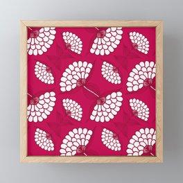 African Floral Motif on Magenta Framed Mini Art Print