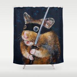 Ninja Hamster Shower Curtain