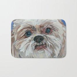 Ruby the Shih Tzu Dog Portrait Bath Mat