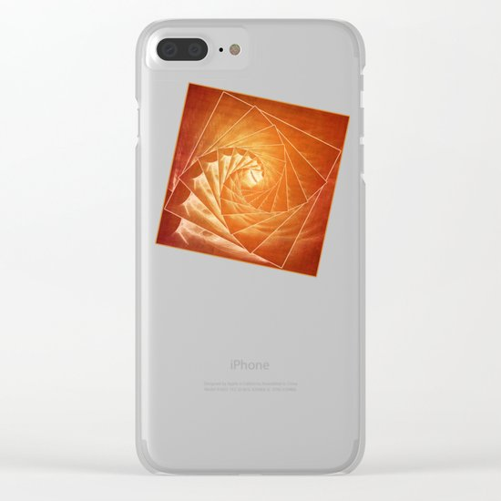 The Burning Eye Sees Spiral Clear iPhone Case