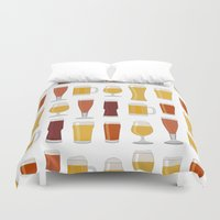 beer Duvet Covers featuring Beer  by Cute to Boot