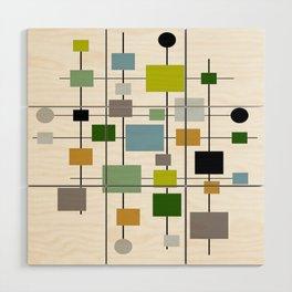 Mid-Century Modern Art 1.3.2 Wood Wall Art