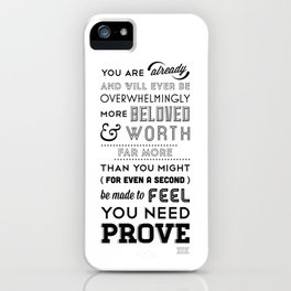 You Are Already - BW iPhone Case