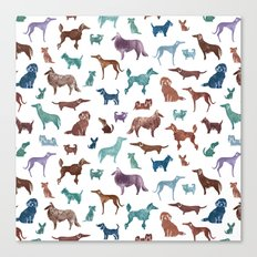 Doggies all over Canvas Print