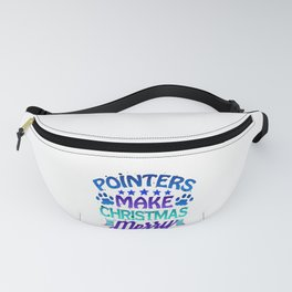 Christmas Pointers Make Christmas Merry Fanny Pack