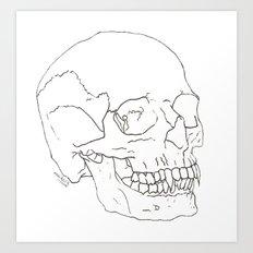 Vamp Skull Art Print