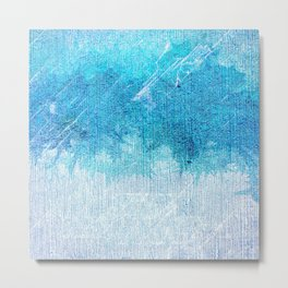 Abstract textured Teal blue Art Metal Print