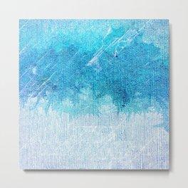 Abstract textured Teal blue Art Metal Print