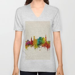 Bournemouth England Skyline Unisex V-Neck