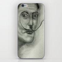salvador dali iPhone & iPod Skins featuring Salvador Dali by Jennifer Lynn