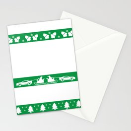Santa Claus car sled Ugly gift Stationery Cards