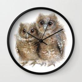 Baby Owls Wall Clock