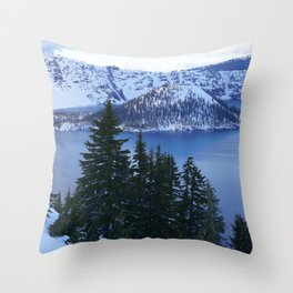Crater Lake Oregon United States Ultra HD Throw Pillow