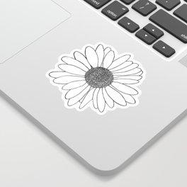 Daisy Grid on Side Sticker