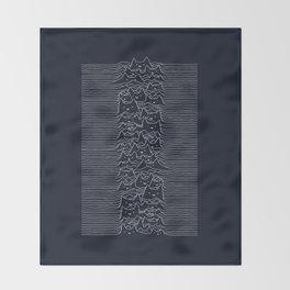 Furr Division Cats (Dark Blue) Throw Blanket