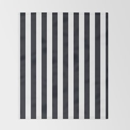 Vertical Stripes Black & White Throw Blanket