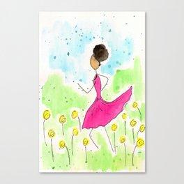 Tia Running So Happy Canvas Print