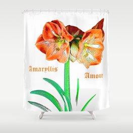 Amaryllis Amore Shower Curtain